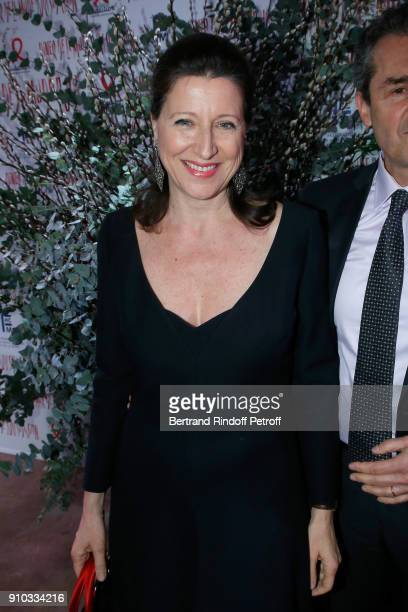 French Health Minister Agnes Buzyn attends the 16th Sidaction as part of Paris Fashion Week on January 25 2018 in Paris France