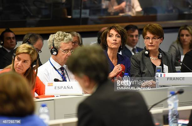 French Health Minister Marisol Touraine attends a ministerial meeting on EU public health measures on the Ebola epidemic in Brussels on October 16...