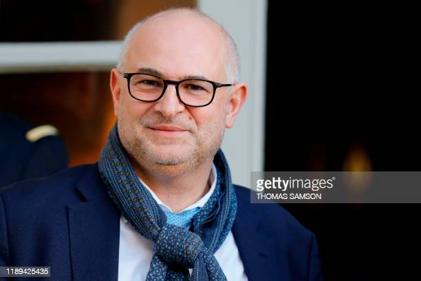 French High Commissioner for Pension Reform Laurent Pietraszewski arrives at the French prime minister residence Hotel de Matignon to attend meetings...