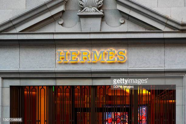 French high fashion luxury goods manufacturer Hermes store.