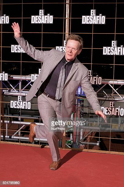 French Highwire artist Philippe Petit attends the 'El desafio' photocall premier at Picasso Building on December 10 2015 in Madrid Spain