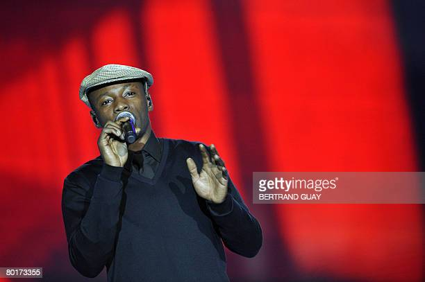 French hip hop singer MC Solaar performs during the 23rd Victoires de la Musique annual ceremony France's top music award on March 8 2008 in Paris...