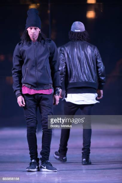 French HipHop Dancers 'Les Twins' preform on the Runwade at Dwyane Wade's A Night on the Runwade Fashion Event at Revel Fulton Market on March 19th...