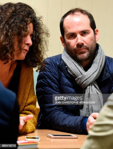 French Historian and specialist in rightwing extremism and negationism in France Valérie Igounet speaks as photographer Vincent Jarousseau looks on...