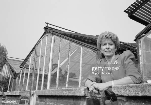 French historian Helene Carrere d'Encausse stands outside a row of greenhouses in Paris A specialist on Russia she would be elected to the Academie...