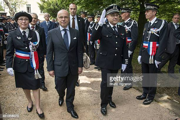 French Home minister Bernard Cazeneuve attends annual ceremony of naming of the Superintendants and Police Lieutenants promotion 2014 at ENSP Higher...