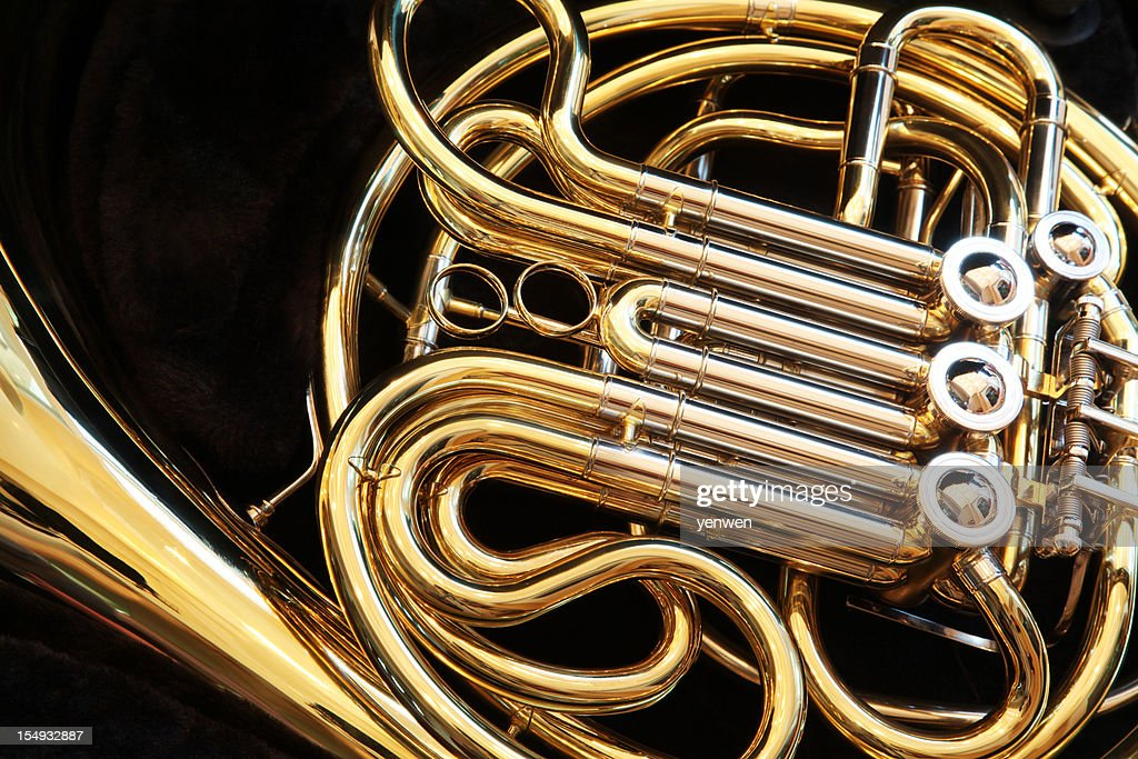 French Horn Closeup : Stock Photo