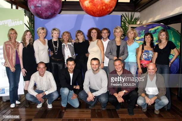 French host weather from left to right Up Karine Fauvet LCI Geraldine de Mori BFM RMC Evelyne Dheliat TF1 Isabelle Perilhou Fabienne Amiach France 3...