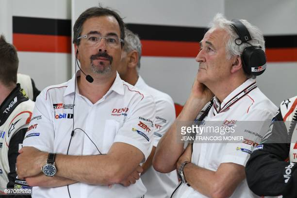 French Hugues de Chaunac President of ORECA technical partner of Toyota and Dutch Rob Leupen Vice President Business Operations of Toyota Motorsport...