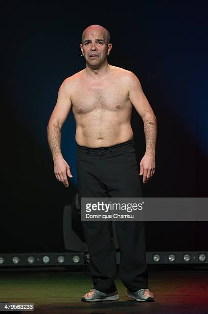 French Humorist Arnaud Maillard performs on stage during the 30th International Festival MontBlanc D'Humour on March 19 2014 in SaintGervaislesBains...