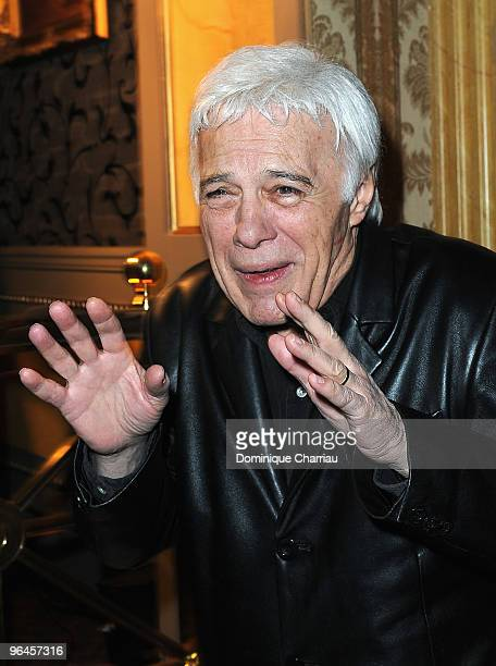 French Humorist Guy Bedos poses as he attends Le Concert 2 Millions Viewers Celebration Party at Ritz Club on February 5 2010 in Paris France