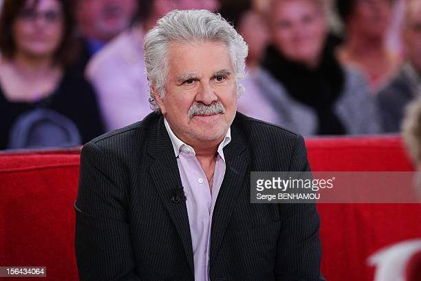 French humorist Roland Magdane attends 'Vivement Dimanche' Tv show on November 14, 2012 in Paris, France.