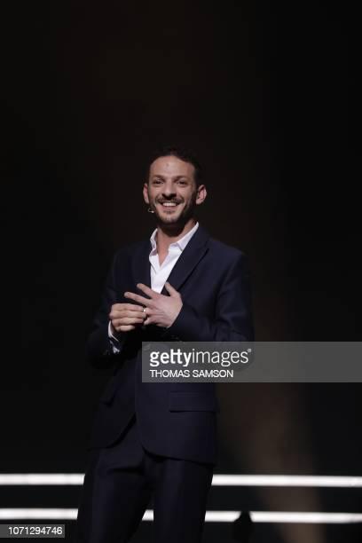 French humorist Vincent Dedienne hosts the SACEM Grand Prix awards ceremony on December 10 2018 at the Salle Pleyel de Paris