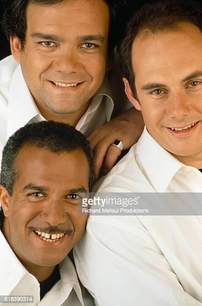 French humorists Les Inconnus Didier Bourdon Pascal Legitimus and Bernard Campan