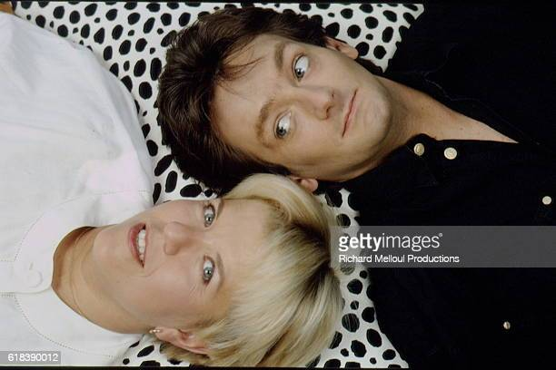 French Humorists Mimie Mathy and Pierre Palmade.