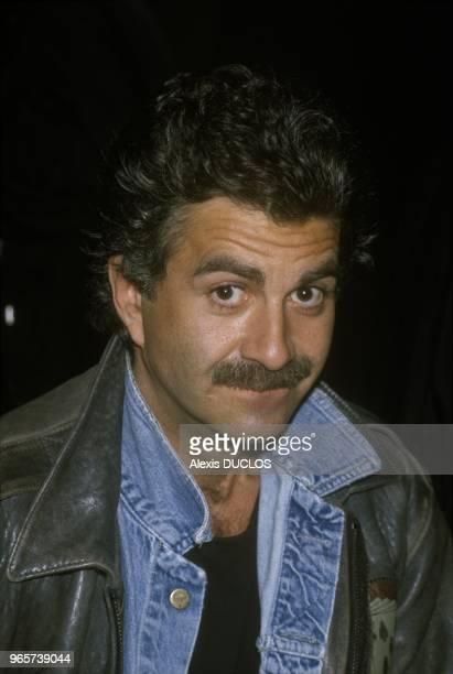 French Humourist Roland Magdane, Paris, February 24, 1988.