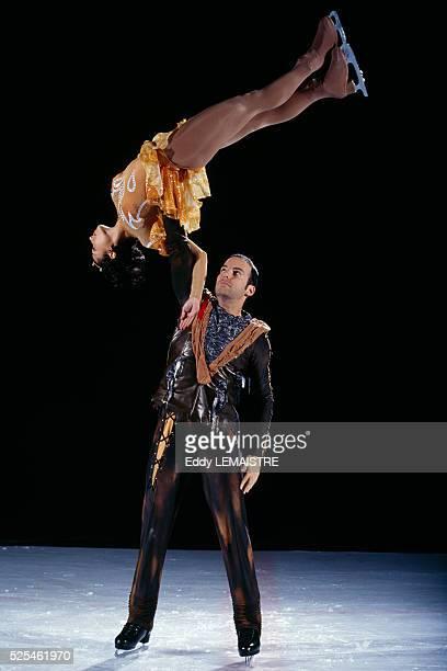French ice skaters Sarah Abitbol and Stephane Bernadis