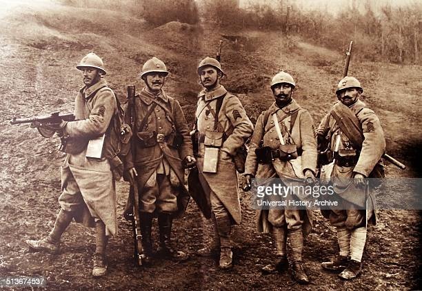 French infantry in World War one