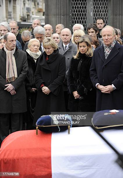 French Integration National Identity and Supportive Development Minister Brice Hortefeux his wife Valerie actress Mireille Darc Paris deputy mayor...