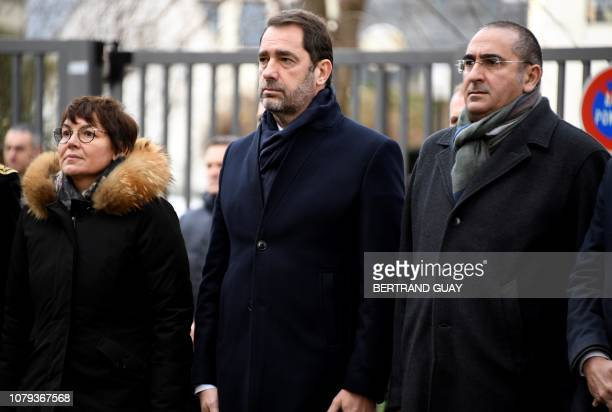 French Interior minister Christophe Castaner French Overseas Minister Annick Girardin and French Junior Minister attached to the Interior Ministry...