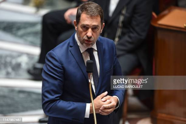 French Interior Minister Christophe Castaner speaks during a session of questions to the Government at the French National Assembly in Paris on June...