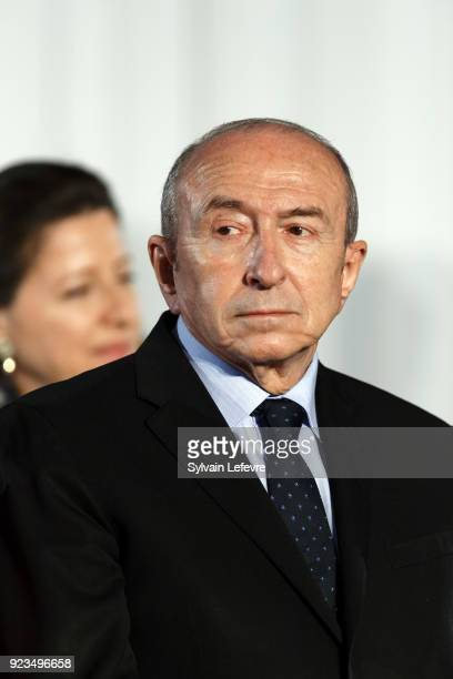 French Interior Minister Gerard Collomb attends the presentation of the national plan for the prevention of radicalisation as part of a visit in...