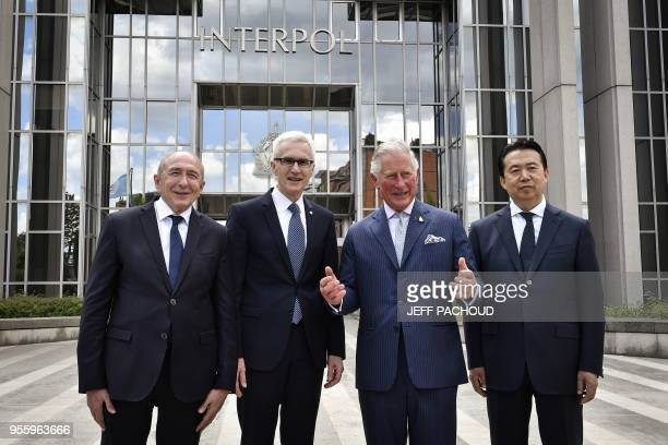 French Interior Minister Gerard Collomb Britain's Prince Charles the Prince of Wales Interpol' president Meng Hongwei Interpol general secretary...