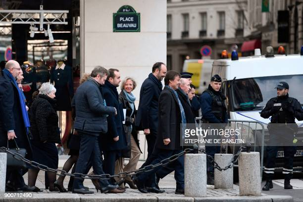 French Interior Minister Gerard Collomb French Minister for the Ecological and Inclusive Transition Nicolas Hulot and French Prime Minister Edouard...