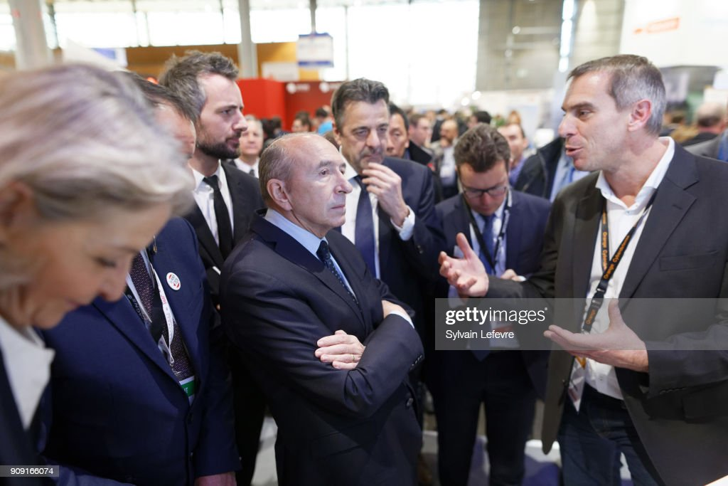 French Interior Minister Gerard Collomb Visits Lille