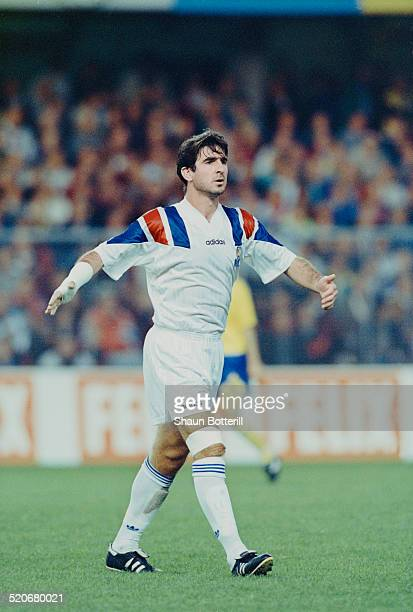 French international footballer Eric Cantona during the Sweden vs France FIFA World Cup qualifying match Råsunda Solna Sweden 22nd August 1993