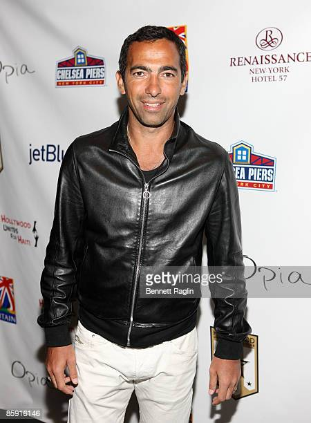French international Youri Djorkaeff attends the Hollywood United Football Club's Setanta Cup exhibition game after party at Opia Lounge on April 11...