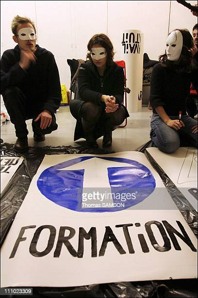 French interns meet to prepare coming protests in France on December 12th 2005 Corporate interns in France have been protesting what they view as...