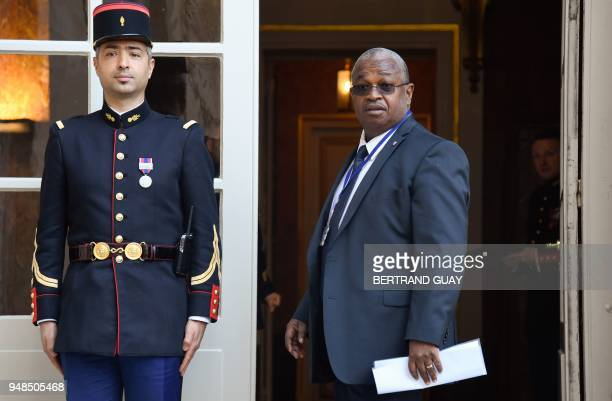 French island of Mayotte deputee at the French National Assembly Mansour Kamardine arrives on April 19 2018 at the Hotel Matigon French Prime...