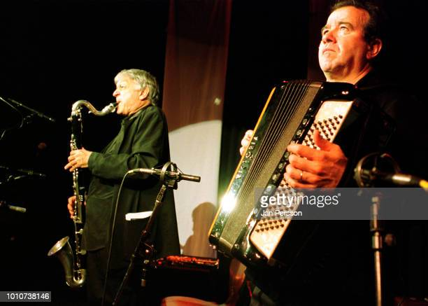 French jazz clarinetist Michel Portal and French jazz accordion player Richard Galliano performing at Copenhagen Jazz Festival Denmark July 2002