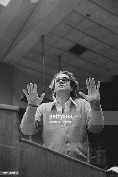 French jazz pianist and film score composer conductor and arranger Michel Legrand February 1975