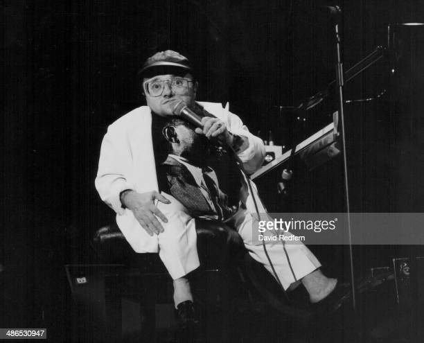 French jazz pianist Michel Petrucciani on stage, circa 1985-1990.