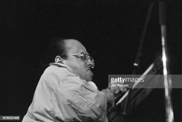 French jazz pianist Michel Petrucciani performing at Jazzhouse Montmartre, Copenhagen, Denmark, August 1990.
