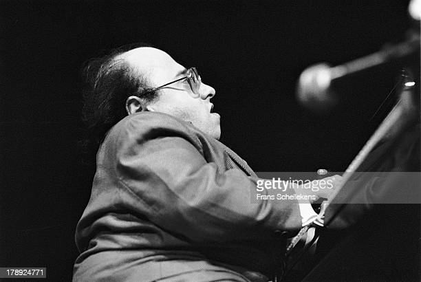 French jazz pianist Michel Petrucciani performs live on stage at Tuchinsky in Amsterdam, Netherlands on 21st February 1989.