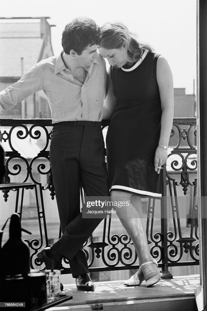 French jazz singer and songwriter Claude Nougaro and his wife Sylvie.