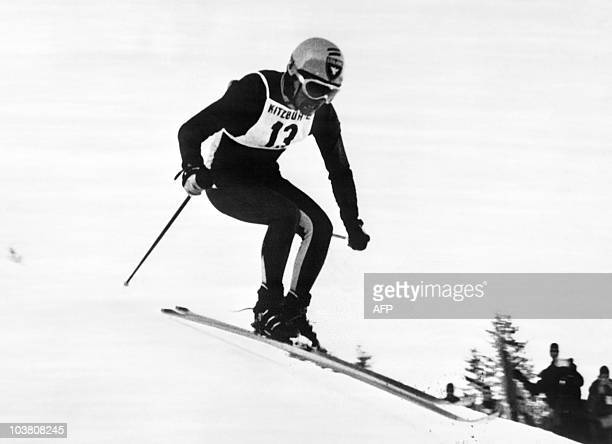 French Jean-Claude Killy jumps on Janurary 20 during men's downhill at Hahnenkamm slope in Kitwbuehel. Jean-Claude Killy is a former champion alpine...