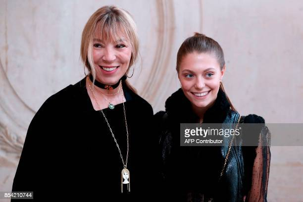French jewellery designer Victoire de Castellane and Heloise Agostinelli pose during a photocall before the Christian Dior women's 2018 Spring/Summer...