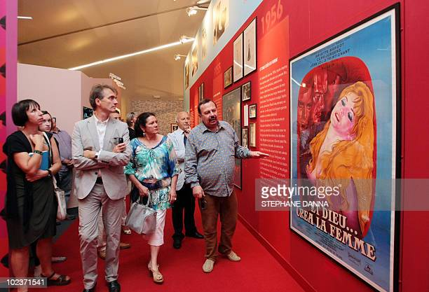 French journalist and curator of the exhibition HenryJean Servat visits the Brigitte Bardot's exhibition dedicated to the French actress and model at...