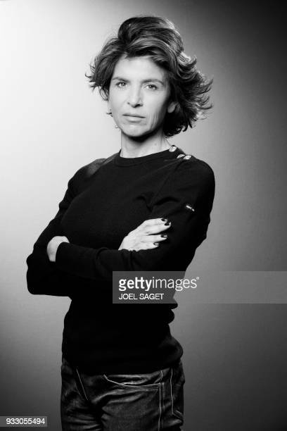 French journalist Anne Nivat poses during a photo session in Paris on March 16 2018 PHOTO / JOEL SAGET
