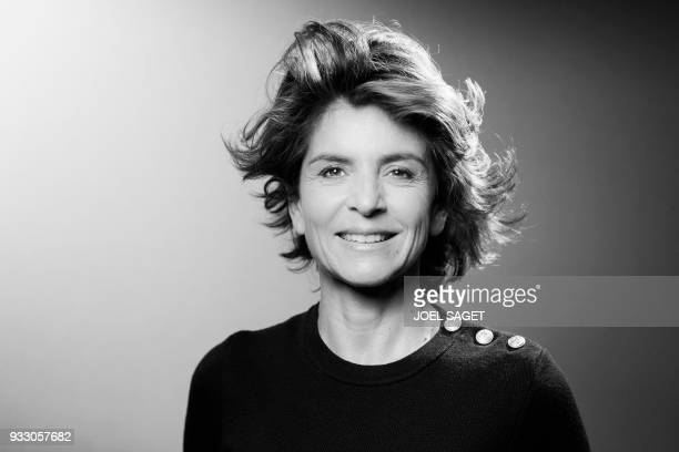 French journalist Anne Nivat poses during a photo session in Paris on March 16 2018