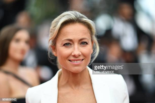French journalist AnneSophie Lapix poses as she arrives on May 18 2018 for the screening of the film The Wild Pear Tree at the 71st edition of the...