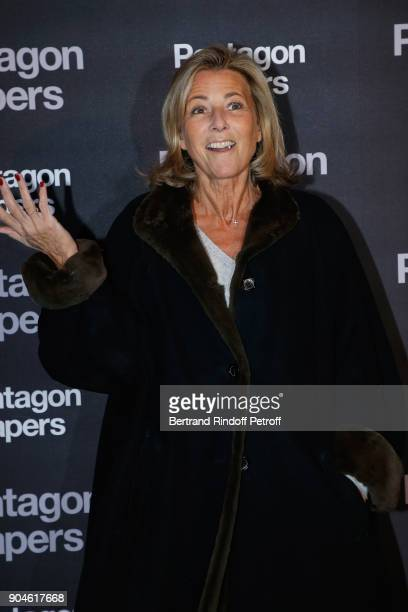 French Journalist Claire Chazal attends the 'Pentagon Papers' Paris Premiere at Cinema UGC Normandie on January 13 2018 in Paris France