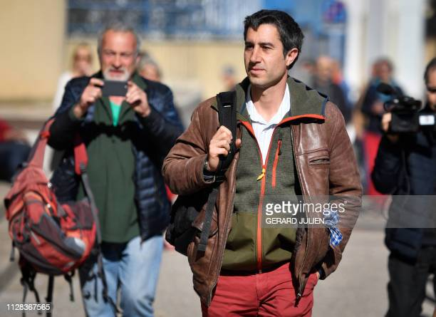 French journalist filmmaker and member of parliament of the leftist La France Insoumise party Francois Ruffin arrives on March 2 at the Toursky...