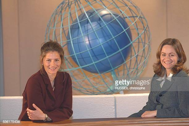 French journalist Guilaine Chenu and Françoise Joly