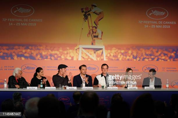 French journalist Henri Behar US producer Shannon McIntosh US actor Brad Pitt US actor Leonardo DiCaprio US film director Quentin Tarantino...