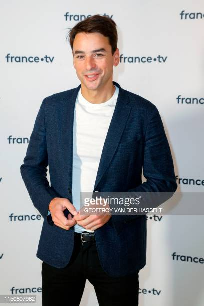 French journalist Julian Bugier poses ahead of a press conference of France Television on June 18 2019 in Paris